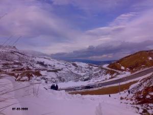 La Commune de Ouled Idriss sous la neige