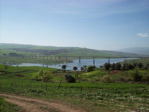 Le Pont de Mila vue de Grarem Gouga