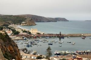 منظر إجمالي لميناء بلدية بني صاف