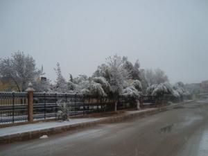 مقر الإذاعة المحلية لولاية نعامة تحت الثلوج