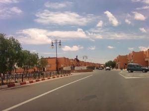 الشارع الرئيسي لمدينة نعامة